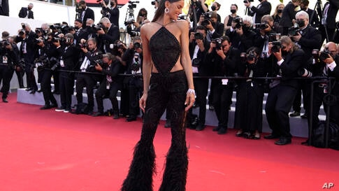 Izabel Goulart poses for photographers upon arrival at the premiere of the film 'Stillwater' at the 74th international film…
