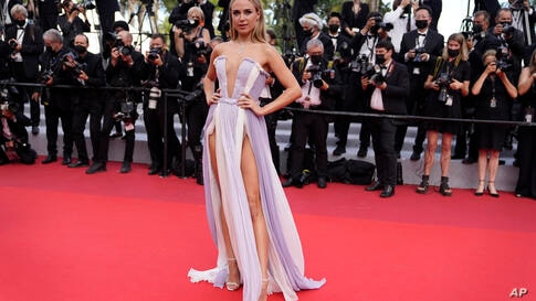 Kimberley Garner poses for photographers upon arrival at the premiere of the film 'France' at the 74th international film…
