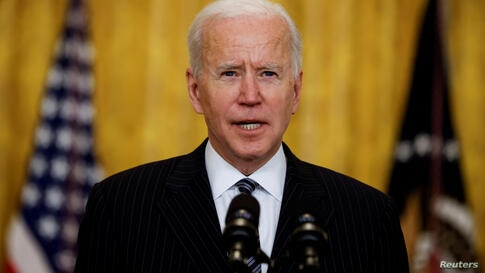 FILE PHOTO: U.S. President Biden delivers status update on coronavirus vaccinations at the White House in Washington