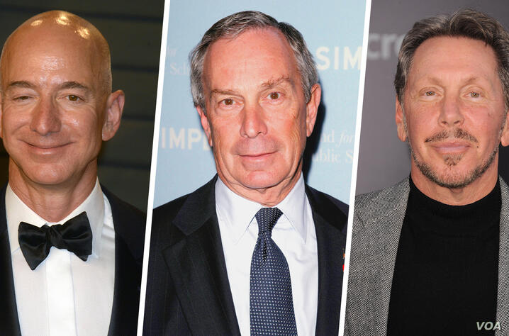 Jeff Bezos - Michael Bloomberg - Larry Ellison