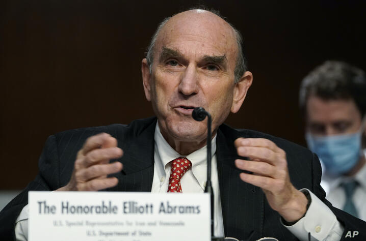 U.S. special envoy for Iran and Venezuela Elliott Abrams testifies before the Senate Foreign Relations Committee on Capitol…