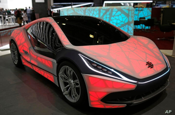The new EDAG light Cocoon concept car  is presented on the second press day of the Geneva International Motor Show Wednesday,…