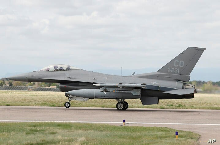 A F-16 Fighting Falcon from Colorado Air National Guard's 140th Wing takes off from Buckley Air Force Base as part of a second…