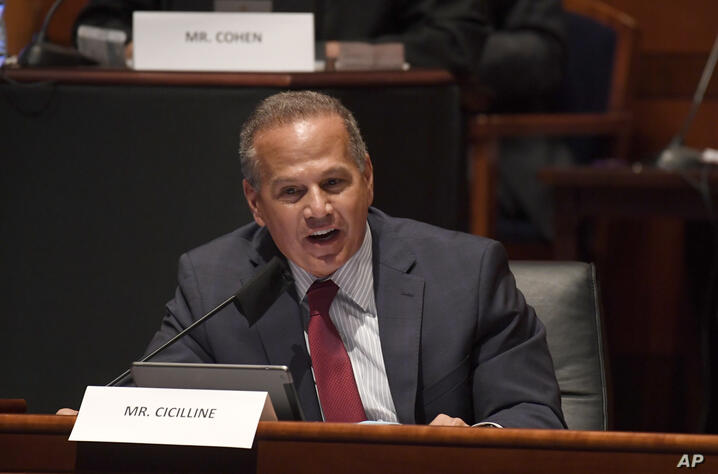 Rep. David Cicilline, D-R.I., speaks during a House Judiciary Committee hearing on Capitol Hill in Washington, Wednesday, June…