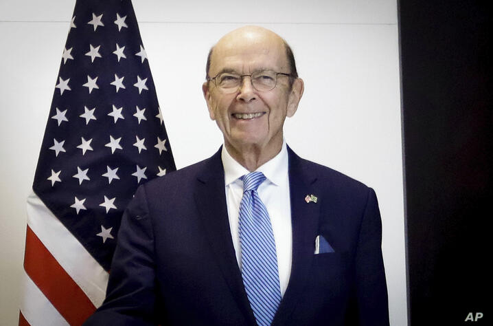 Wilbur Ross, Secretary of Commerce of the United States, participates in a meeting with Paulo Skaf, President of the Federation…