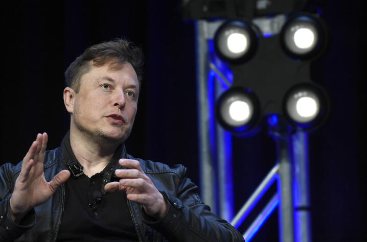 Tesla and SpaceX Chief Executive Officer Elon Musk speaks at the SATELLITE Conference and Exhibition in Washington, Monday,…