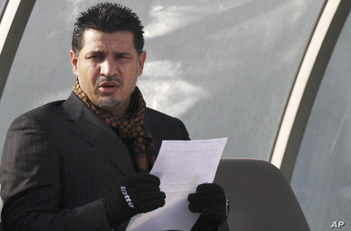 ** FILE ** The Jan. 14, 2009 file photo shows Iran's national soccer team coach Ali Daei before an Asian Cup 2011 qualifying…