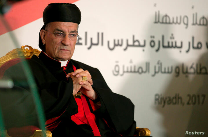 FILE PHOTO: Lebanese Maronite Patriarch Bechara Boutros Al-Rai visits the Lebanese embassy in Riyadh