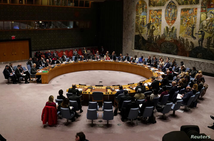 FILE PHOTO: UN Security Council meets about situation in Syria at UN Headquarters in New York City