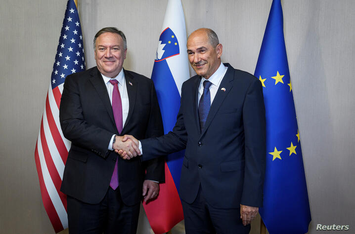 U.S. Secretary of State Pompeo visits in Slovenia