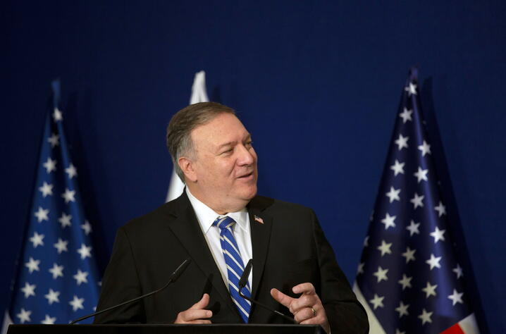 U.S. Secretary of State Pompeo meets Israeli PM Netanyahu in Jerusalem