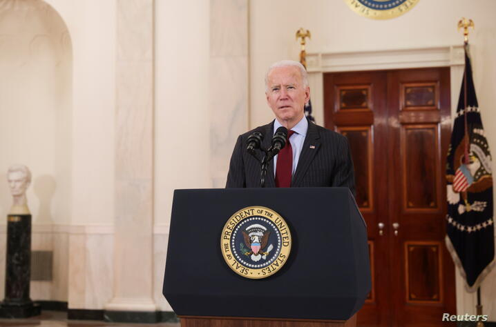U.S. President Joe Biden delivers remarks in honor of the 500,000 U.S. deaths from the coronavirus disease (COVID-19), in Washington