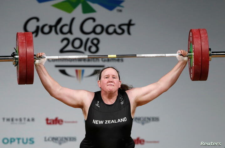 FILE PHOTO: Laurel Hubbard of New Zealand competes at Gold Coast 2018 Commonwealth Games