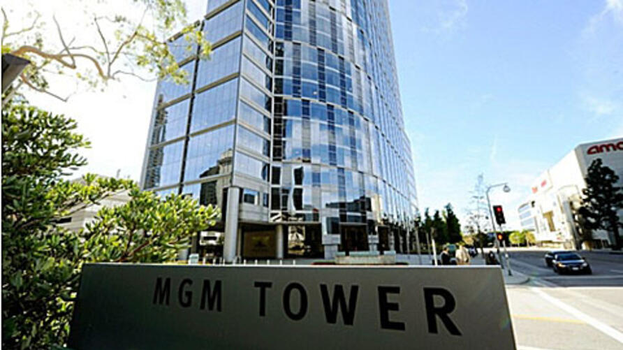 MGM Tower is in the Century City section Los Angeles, California. According to reports Metro- Goldwyn-Mayer's creditors voted to send the studio into bankruptcy court, 29 Oct 2010.