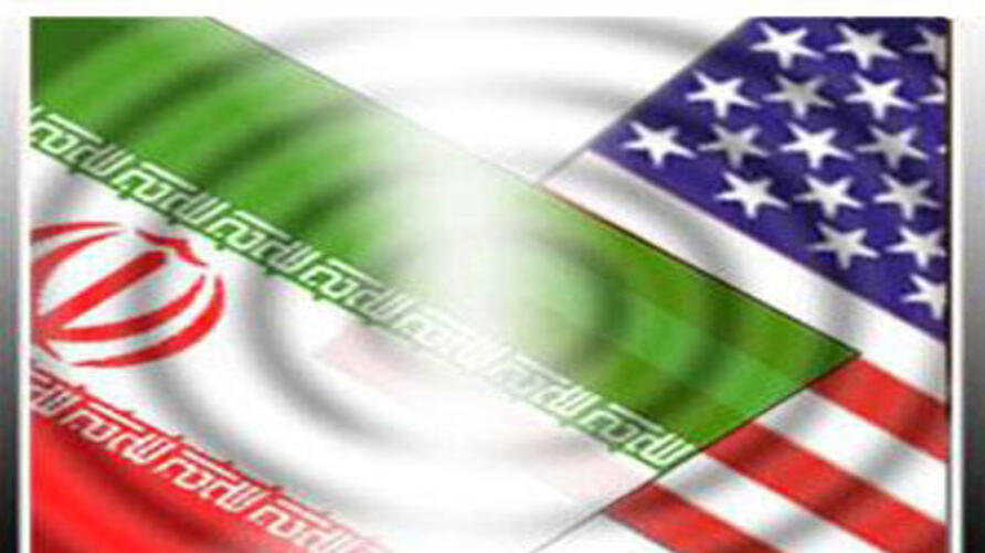 Iran US flags