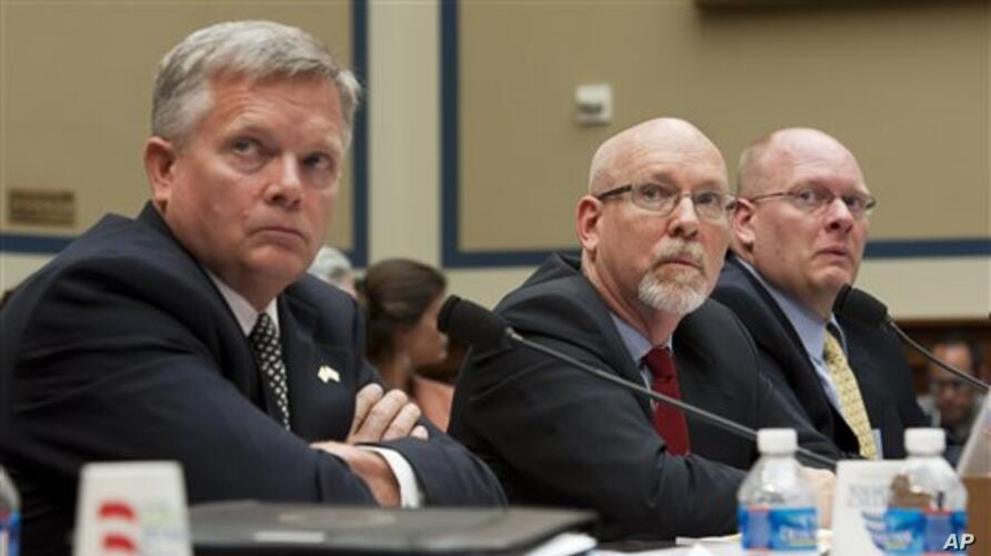 Witnesses at US Congressional hearing into Benghazi attack, May 8, 2013