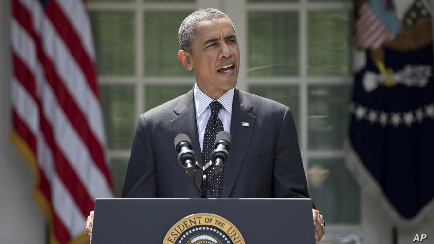 President Barack Obama accepted Eric Shinseki's resignation as head of the Department of Veterans Administration