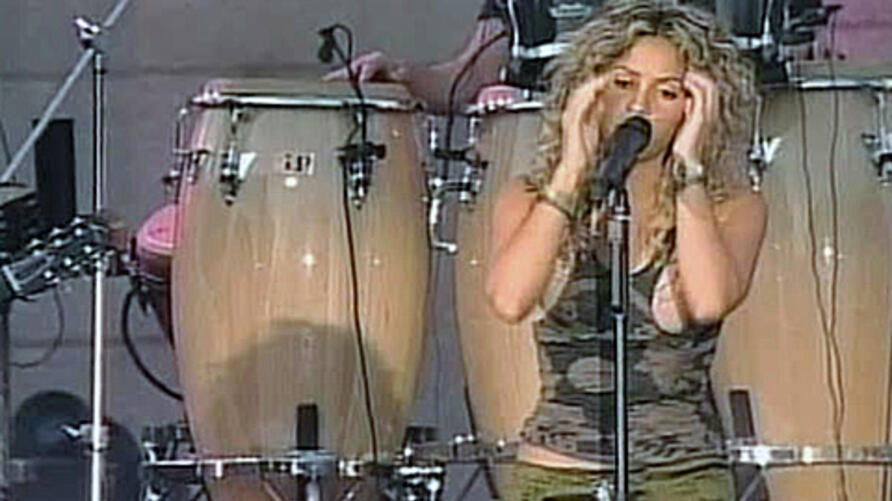 International Latin super star Shakira sings South Africa official World Cup song