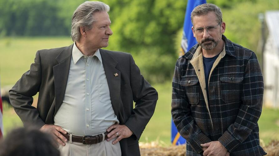 Steve Carell and Chris Cooper in Irresistible by Jon Stewart