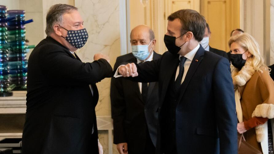 US secretary of State Mike Pompeo met with French President Macron in Paris
