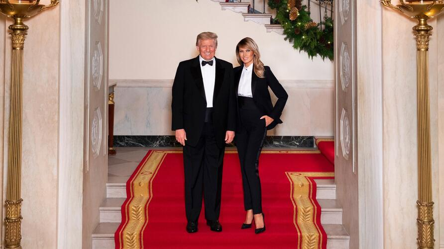 President Trump and First Lady Melania, Christmas 2020, White House