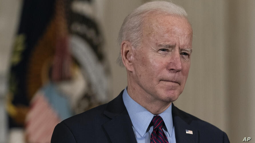 President Joe Biden speaks about the economy in the State Dinning Room