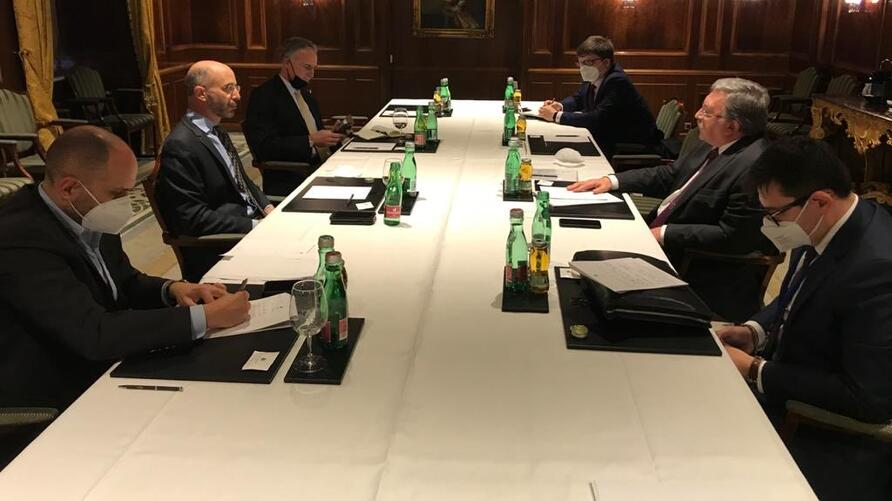 Russiann delegation meeting with US delegation in JCPOA Vienna talks
