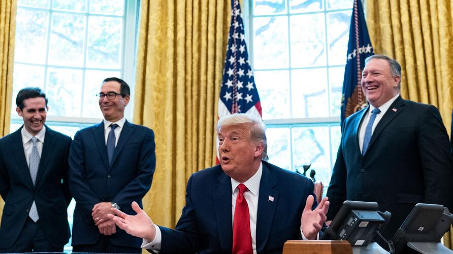US President Donald Trump announces that Sudan will normalize relations with Israel at the White House in Washington, DC, on…