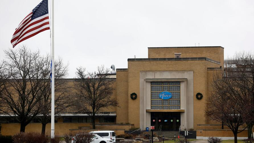 Pfizer's Global Supply facility in Kalamazoo, Michigan on December 12, 2020. - Americans will start receiving the Pfizer…