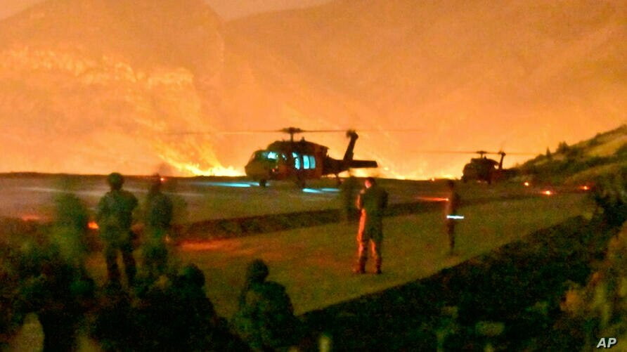 In this photo provided by the Turkish Ministry of Defence on Wednesday, June 17, 2020, Turkish troops in action against Kurdish…
