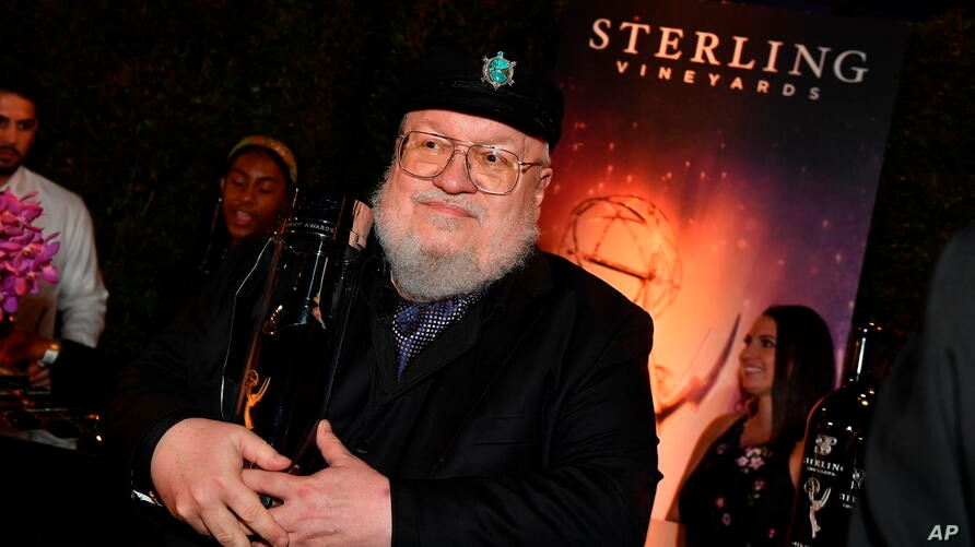 IMAGE DISTRIBUTED FOR STERLING VINEYARDS -  George R.R. Martin holds a bottle of Sterling wine at the 71st Primetime Emmy…