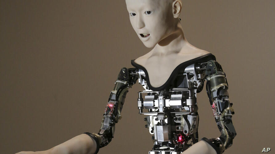 """The humanoid robot """"Alter"""" is displayed at the National Museum of Emerging Science and Innovation in Tokyo, Monday, Aug. 1,…"""