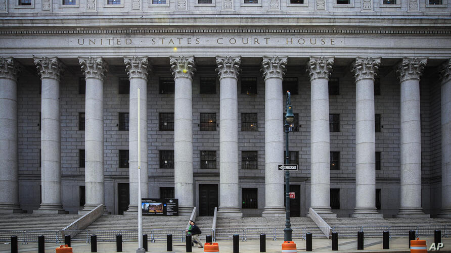 FILE - This photo from Tuesday May 3, 2011, shows the Thurgood Marshall U.S. Courthouse where the Second Circuit Court of…