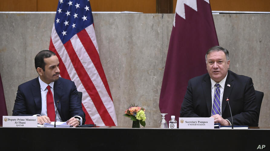 Secretary of State Mike Pompeo welcomes Qatar's Deputy Prime Minister Mohammed bin Abdulrahman Al Thani to launch the third…