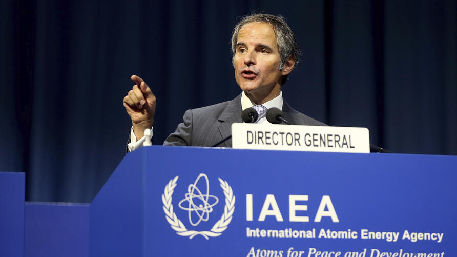 Director General of International Atomic Energy Agency, IAEA, Rafael Mariano Grossi from Argentina, delivers a speech at the…