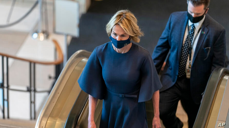 American Ambassador to the United Nations Kelly Craft arrives for the 75th session of the United Nations General Assembly,…