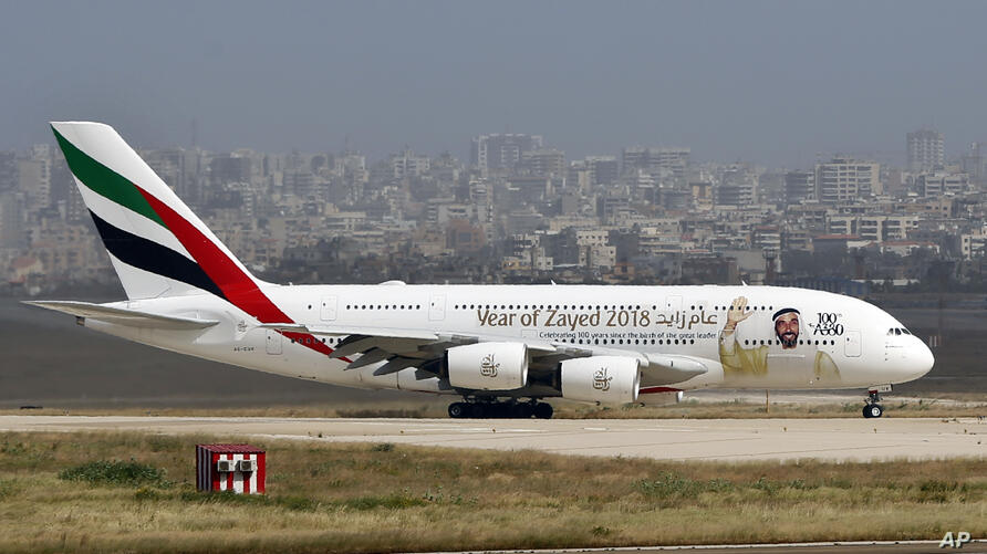 A double-decker Airbus A380 plane lands at the Rafik Hariri International Airport in Beirut, Lebanon, Thursday, March. 29, 2018…