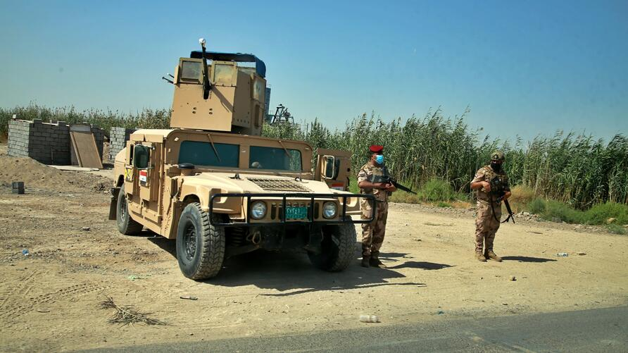 Security forces deployed in Tarmiyah, where a commander of an Iraqi army brigade was killed last week in an attack blamed on…