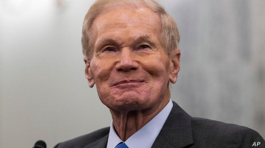 Former Sen. Bill Nelson, nominee to be administrator of NASA, looks on during a Senate Committee on Commerce, Science, and…