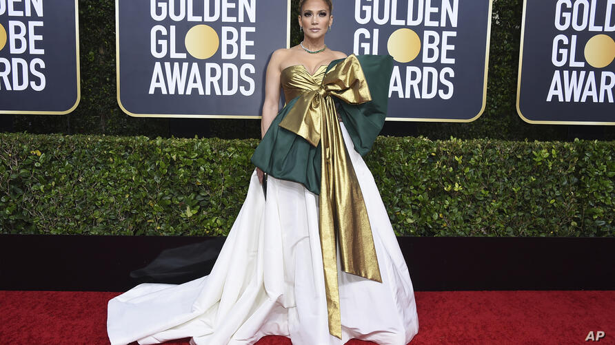 Jennifer Lopez arrives at the 77th annual Golden Globe Awards at the Beverly Hilton Hotel on Sunday, Jan. 5, 2020, in Beverly…