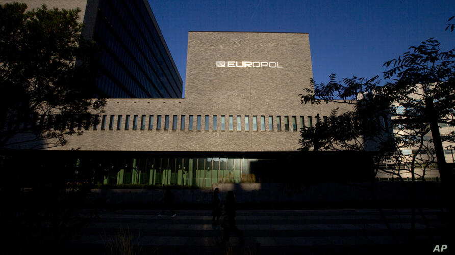 The sun bounces off the Europol headquarters in The Hague, Netherlands, Wednesday, Oct. 10, 2018. Europol director Catherine De…