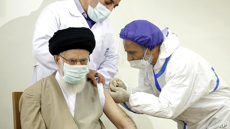 In this photo released by the official website of the Office of the Iranian Supreme Leader, Supreme Leader Ayatollah Ali…