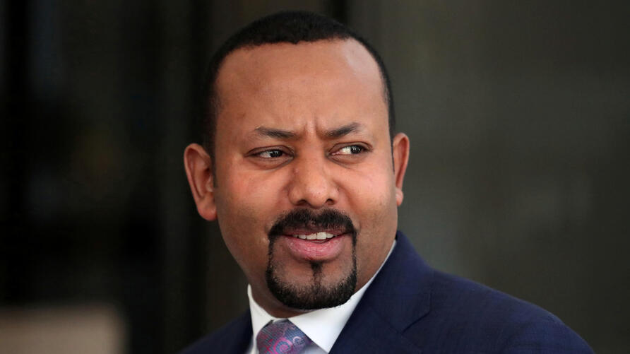 FILE PHOTO: Ethiopia's PM Ahmed waits for the arrival of EC President von der Leyen before their meeting in Addis Ababa