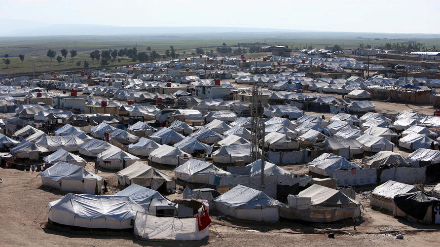 FILE PHOTO: A general view of al-Hol displacement camp in Hasaka governorate