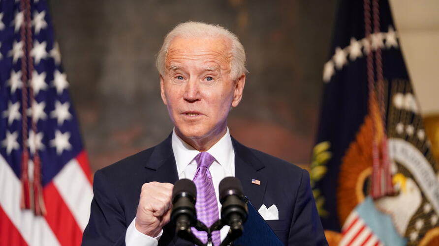 U.S. President Biden speaks about COVID-19 pandemic in Washington