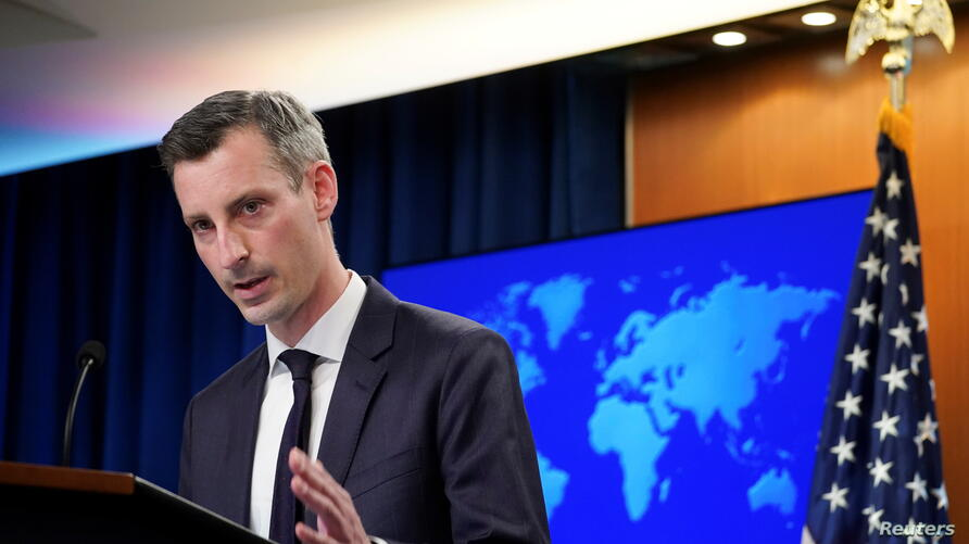 U.S. State Department Spokesman Ned Price holds press briefing at the State Department in Washington