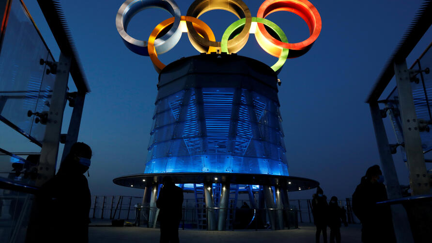 FILE PHOTO: A year ahead of the opening of the 2022 Winter Olympic Games, in Beijing
