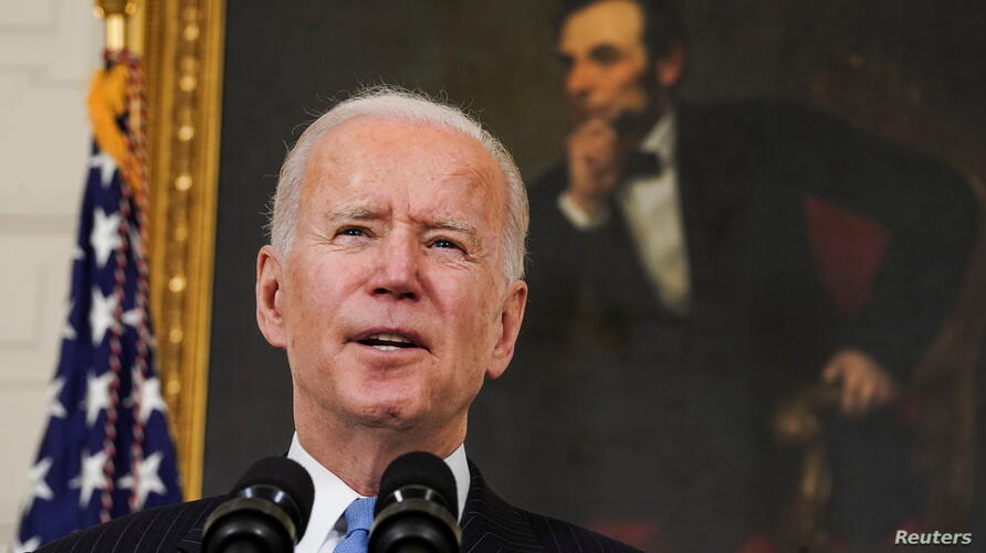 U.S. President Biden speaks about the administration's coronavirus response at the White House in Washington