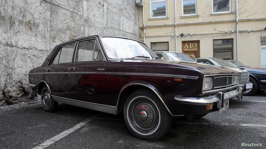 Paykan Hillman-Hunter limousine received by late communist Romania's dictator Ceausescu is parked at Artmark auction house in Bucharest