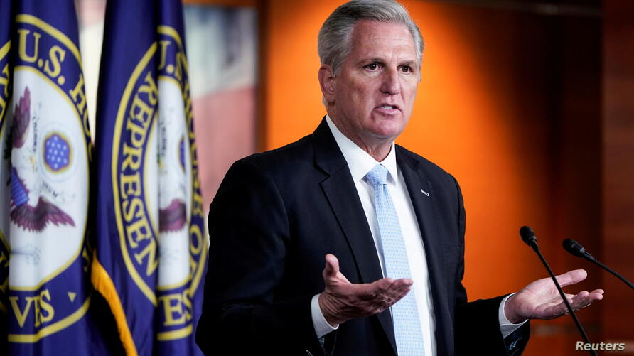 FILE PHOTO: House Minority Leader Kevin McCarthy (R-CA) speaks to the media in Washington